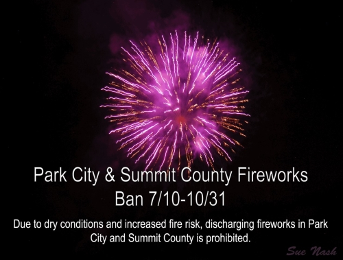 Fireworks are banned